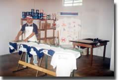 Logoprinten in het confectieatelier