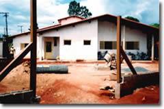 Het SOS huis in aanbouw